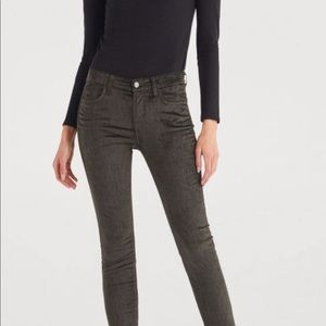 NWT - 7 for all Mankind Velvet High Waist Stretch